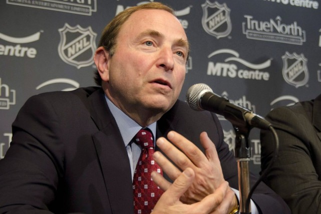 Le commissaire de la LNH, Gary Bettman.... (Archives PC)