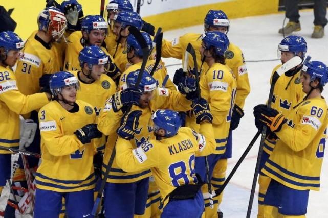 La Suède a blanchi la République tchèque 3-0.... (Photo Alexander Demianchuk, Reuters)