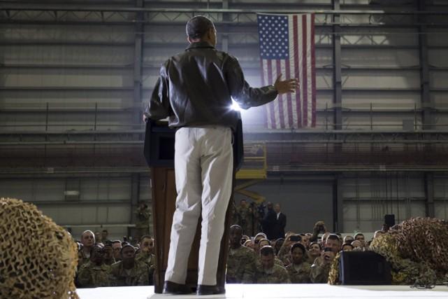 A Bagram dimanche, Barack Obama a rendu hommage... (Photo: AFP)
