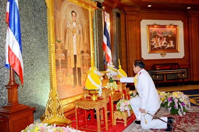 Le général Prayut Chan-O-Cha est apparu à la... (PHOTO AFP/ARMÉ THAÏLANDAISE)