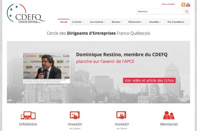 La conclusion d'une entente de libre-échange entre le Canada et la Communauté... (Page d'accueil du site de la CDEFQ)