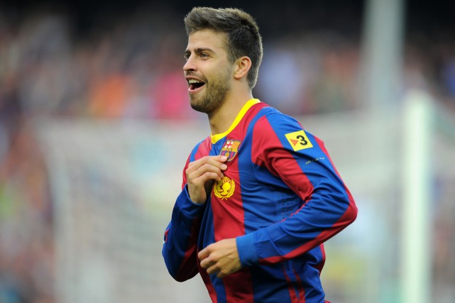 Gerard Pique... (Photo Lluis Gene, archives AFP)
