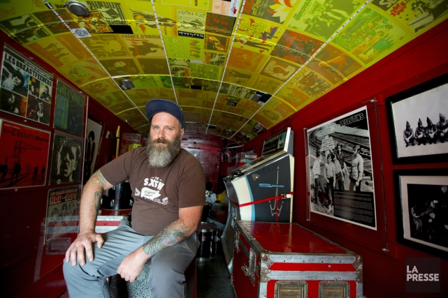 Patrice Caron a confectionné un musée à l'intérieur... (Photo: Alain Roberge, La Presse)