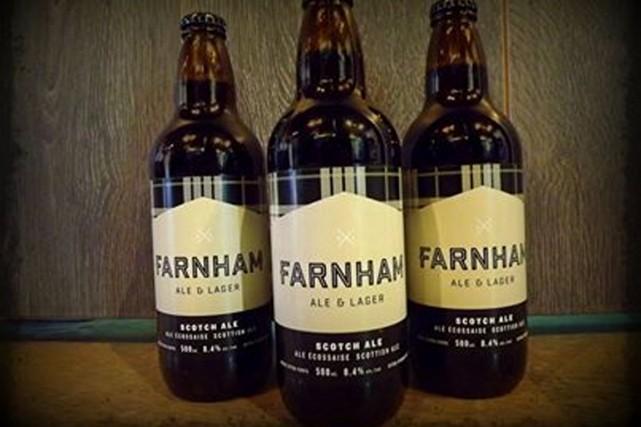 Il y a à peine un an, la microbrasserie Farnham ale&lager a ouvert ses portes... (Photo tirée de Facebook)