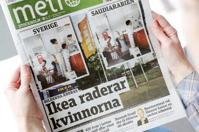 Le pionnier des journaux gratuits Metro, son édition suédoise, sera... (Photo: archives AP)