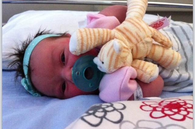 La photo de la petite Victoria, enlevée puis... (Photo tirée de Facebook)