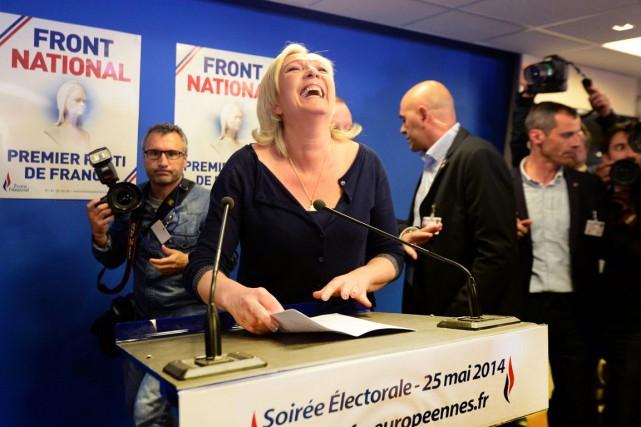 Marine Le pen avait de quoi se réjouir,... (PHOTO PIERRE ANDRIEU, AFP)