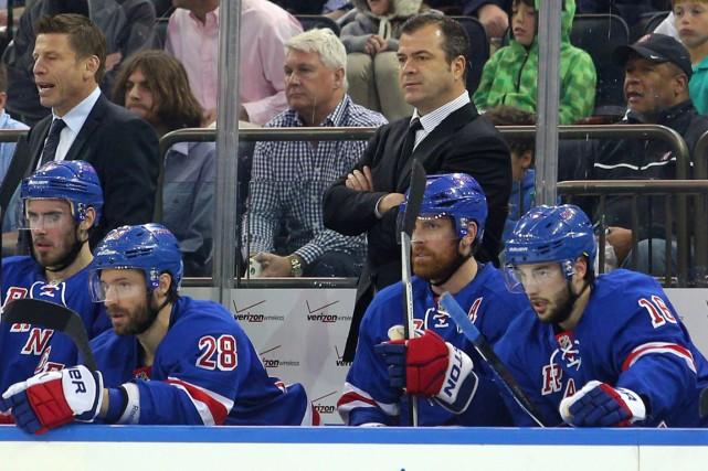 Les joueurs des Rangers pourraient passer en finale... (Photo Brad Penner, USA Today)