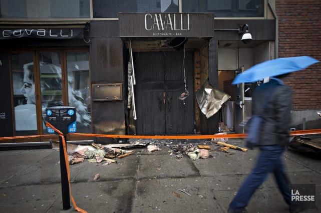 Le restaurant italien Cavalli a été la cible... (Photo Patrick Sanfaçon, La Presse)