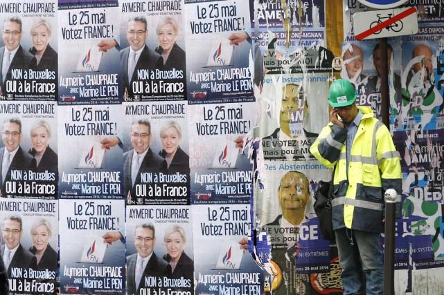 Le FN est sorti vainqueur des européennes de... (PHOTO CHARLES PLATIAU, ARCHIVES REUTERS)