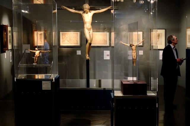 Quelques-unes des oeuvres présentés à l'exposition Michelangelo, à... (Photo: AFP)