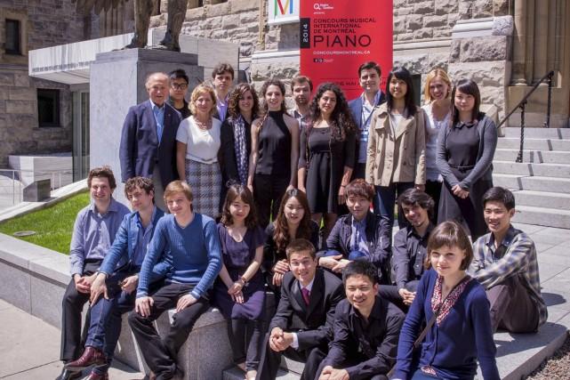 Vingt-deux des vingt-quatre concurrents du Concours de piano,... (Photo: fournie par le Concours musical international de Montréal)