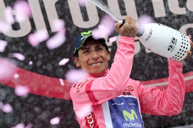 Le Colombien Nairo Quintana a remporté la 16e... (Photo Luk Benies, AFP)