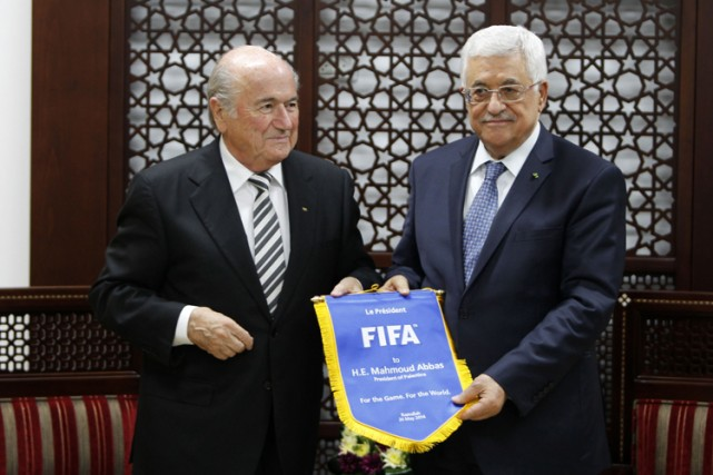 Joseph Blatter a rencontré mardi le Premier ministre... (Photo: AFP)