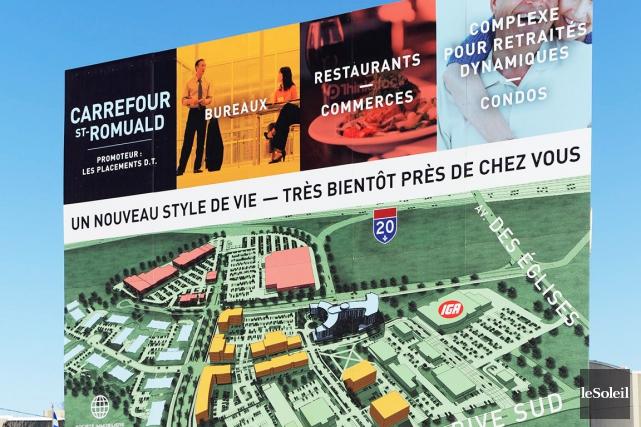 Le Carrefour Saint-Romuald est le plus gros projet... (Photothèque Le Soleil, Pascal Ratthé)