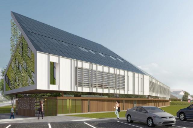 Grâce aux énergies renouvelables, la nouvelle bibliothèque municipale... (PHOTO FOURNIE PAR LA VILLE DE VARENNES)