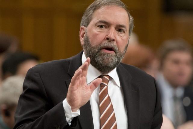 Le chef du NPD Thomas Mulcair.... (Photo Adrian Wyld, La Presse Canadienne)