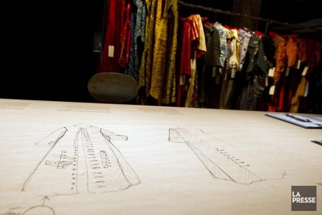 L'exposition s'ouvre dans l'atelier où l'on peut voir... (Photo: Olivier Jean, La Presse)