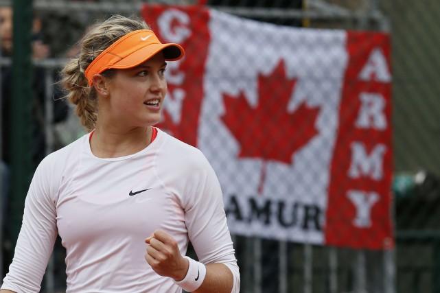 Eugenie Bouchard a défait l'Allemande Julia Goerges 2-6,... (Photo Patrick Kovarik, AFP)