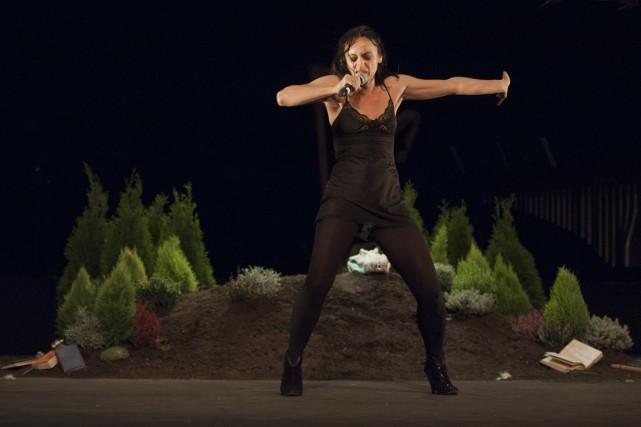 L'Espagnole Angélica Liddell ricane, chante, sautille, danse et... (Photo: fournie par le FTA)