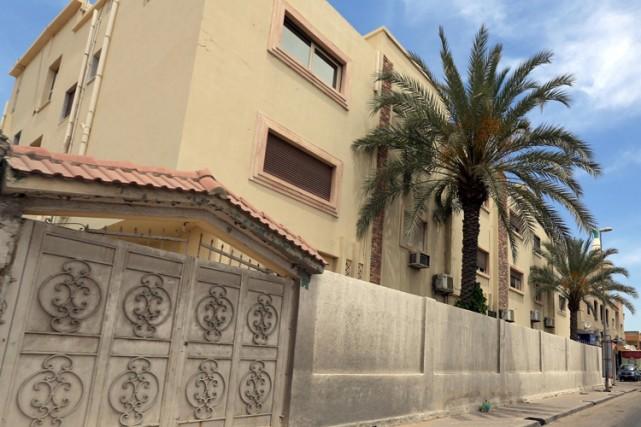 La résidence à Tripoli du nouveau premier ministre... (Photo: AFP)
