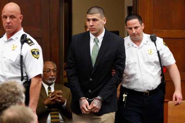 Aaron Hernandez a été formellement accusé de double... (Photo Dominick Reuter, Reuters)