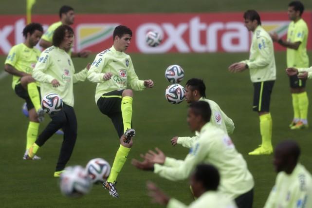 L'entraînement de l'après-midi a duré une heure.... (Photo: Reuters)