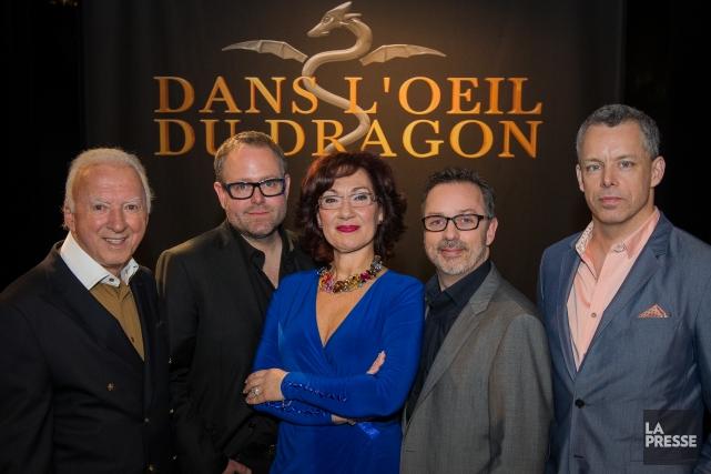 Les Dragons, de gauche à droite: Gaétan Frigon,... (Photo Edouard Plante-Fréchette, archives La Presse)