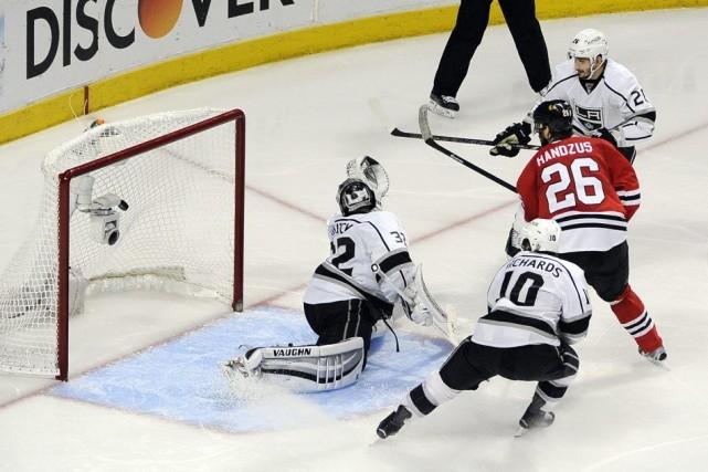 Michal Handzus a marqué le but vainqueur en... (Photo USA Today Sports)