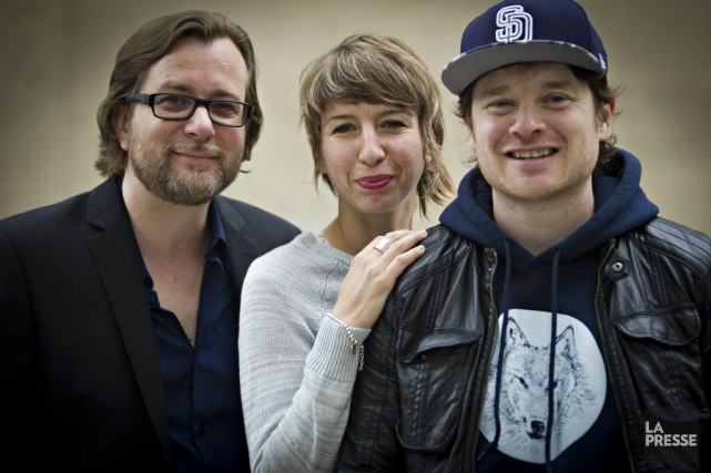 Luc De Larochellière, Catherine Major et Yann Perreau... (Photo: Olivier Jean, La Presse)