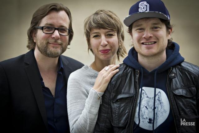 Luc De Larochellière, Catherine Major et Yann Perreau... (Photo: Olivier Jean, La Presse)