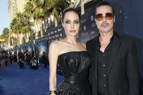 Angelina Jolie et Brad Pitt à la première...