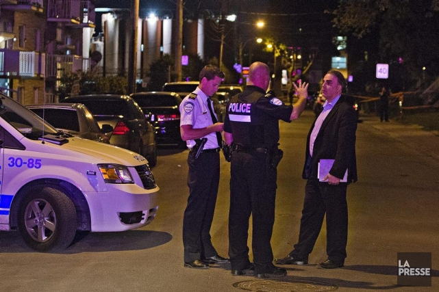Les deux victimes ont été atteintes par balle... (PHOTO FÉLIX O.J. FOURNIER, COLLABORATION SPECIALE)