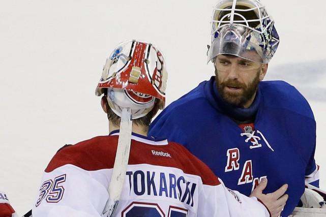 Le gardien des Rangers Henrik Lundqvist a tenu... (Photo Frank Franklin II, AP)