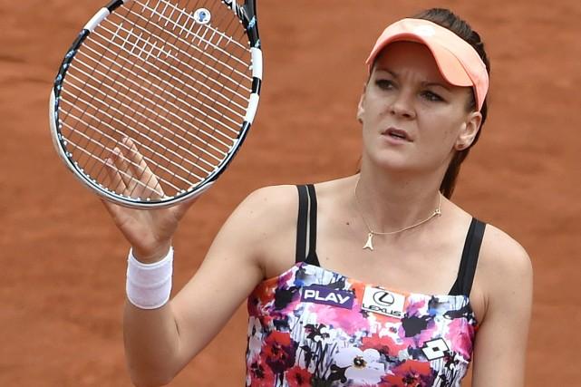 La défaite d'Agnieszka Radwanska signifie que les trois... (Photo Pascal Guyot, AFP)