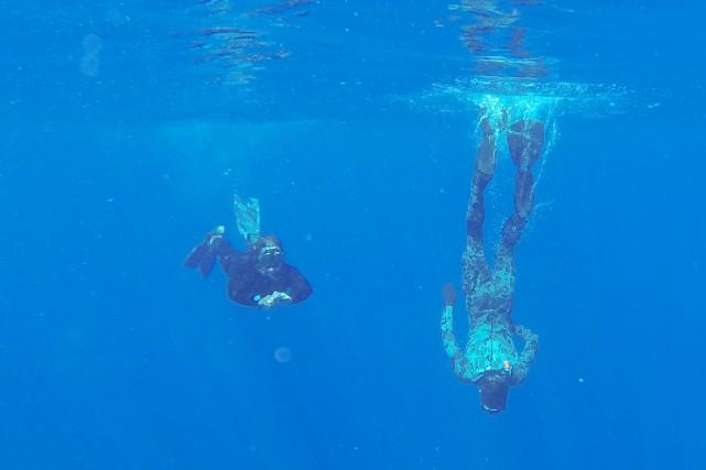 Des plongeurs de la marine australienne plongent dans... (PHOTO LEUT RYAN DAVIS, ARCHIVES AFP/DÉFENSE AUSTRALIENNE)