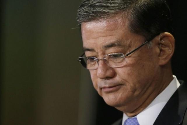 Le ministre Eric Shinseki était empêtré dans un... (PHOTO GARY CAMERON, REUTERS)