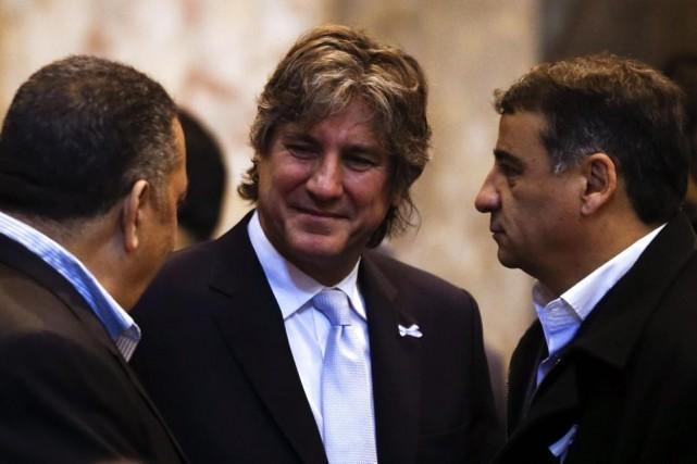 Le vice-président argentin Amado Boudou (au centre)devra se... (PHOTO MARCOS BRINDICCI, REUTERS)