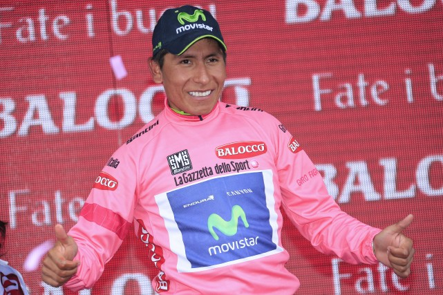 Nairo Quintana... (PHOTO LUK BENIES, AFP)
