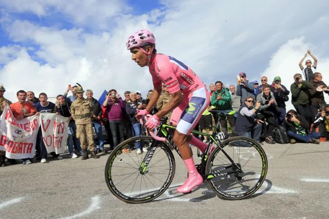Le Colombien Nairo Quintana a remporté le contre-la-montre... (Photo Luk Benies, AFP)