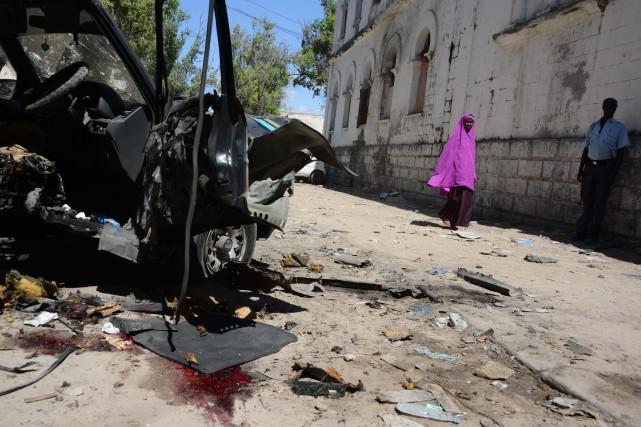 Les shebab sont très actifs en Somalie, où... (Photo AFP)