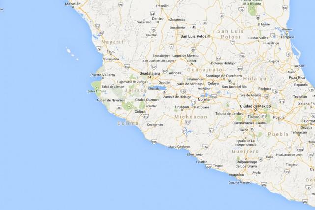 Un séisme de magnitude6,2 a frappé samedi la côte Pacifique du Mexique, a... (IMAGE TIRÉE DE MAPS.GOOGLE.CA)