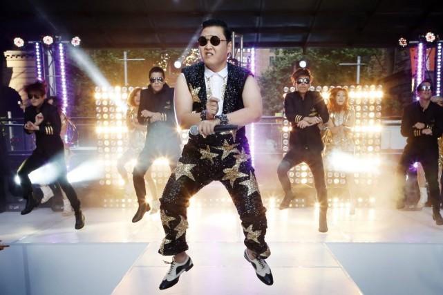 Le chanteur sud-coréen Psy est entré dans le livre des records avec son tube... (PHOTO ARCHIVES AGENCE FRANCE PRESSE)