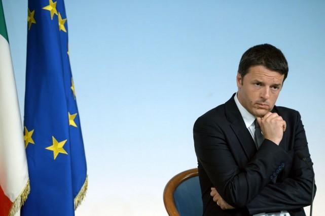 Le premier ministre italien, Matteo Renzi.... (Photo FILIPPO MONTEFORTE, AFP)