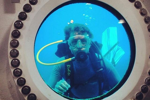 Cousteau et son équipe séjourneront dans le laboratoire... (Photo REUTERS/Mission 31)