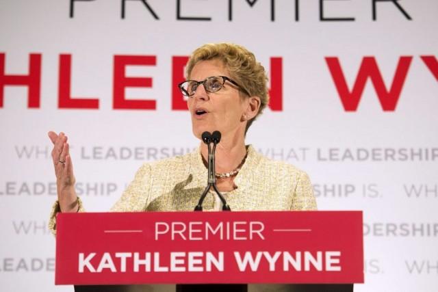 La chef libérale Kathleen Wynne, lors de sa... (Photo Nathan Denette, La Presse canadienne)