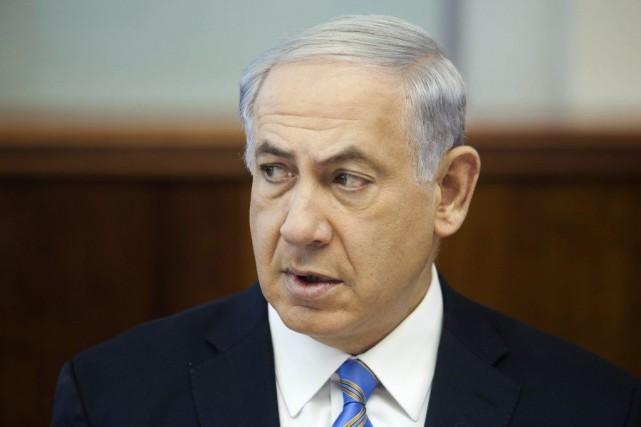 Le premier ministre Nétanyahou a déclaré que«le Hamas... (PHOTO DAN BALILTY, REUTERS)
