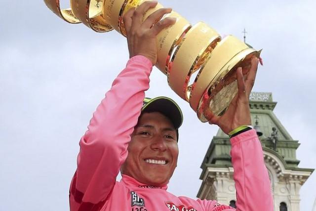 Le Colombien Nairo Quintana a remporté le Tour... (Photo Luk Benies, AFP)