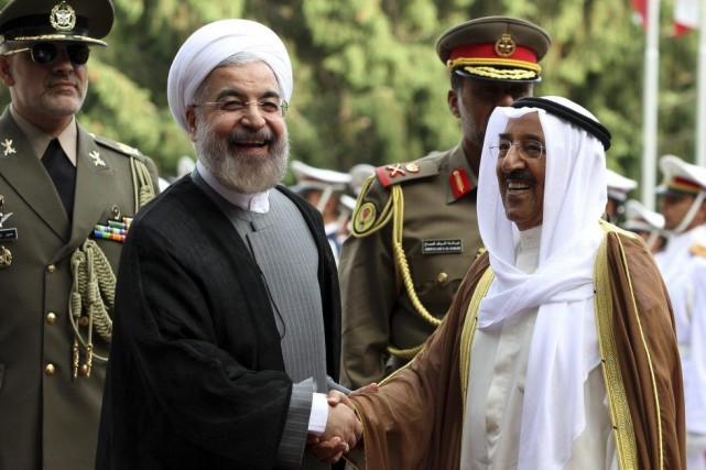 Le président iranien Hassan Rohani a reçu le... (PHOTO ATTA KENARE, AFP)
