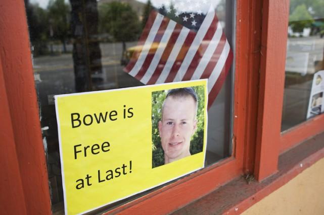 Si les pancartes «Bowe, enfin libre» ont envahi... (Photo: Reuters)
